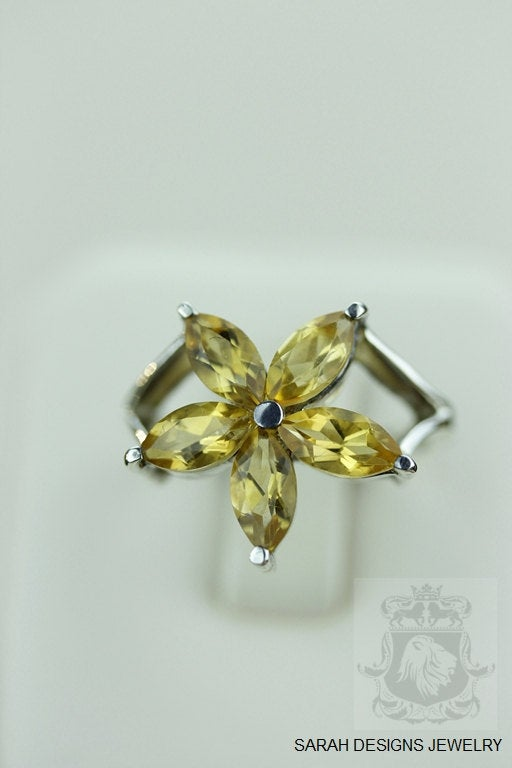 SIZE 7.5 CITRINE (Nickel Free) 925 Fine S0LID Sterling Silver Ring & Worldwide Express Shipping r957