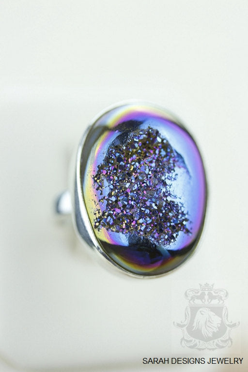 Size 7.5 Druzy Sterling Silver Ring r852