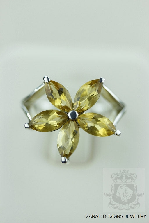 Size 7 Citrine Sterling Silver Ring r901
