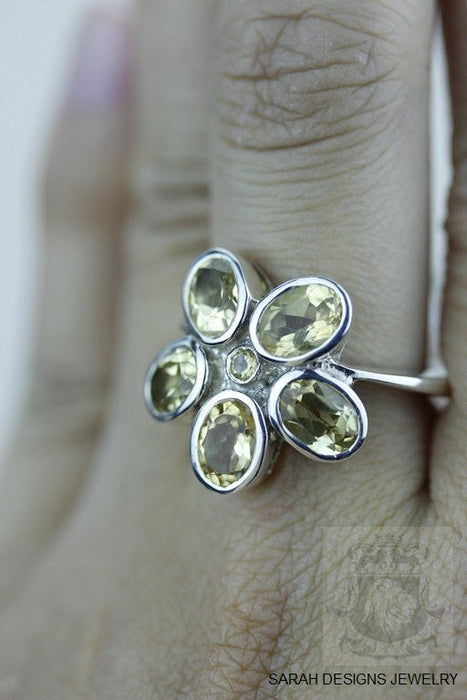 Size 7 Citrine Sterling Silver Ring r903