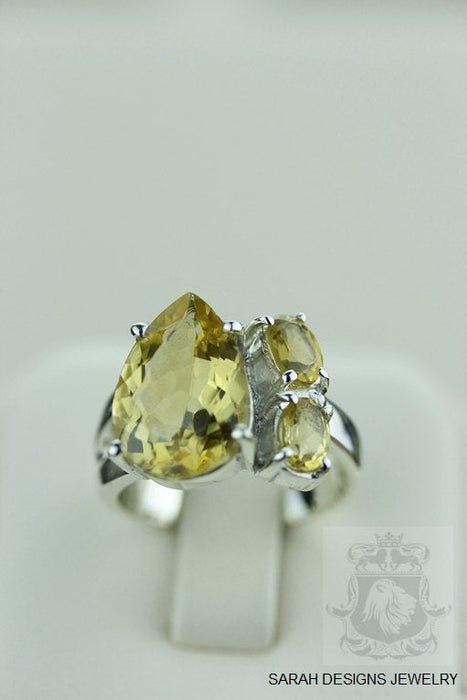 Size 6.5 Citrine Sterling Silver Ring r921