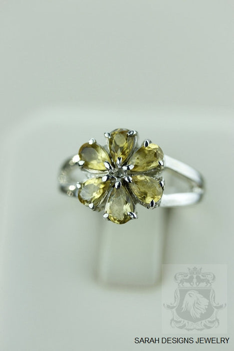 Size 6.5 Citrine Sterling Silver Ring r932