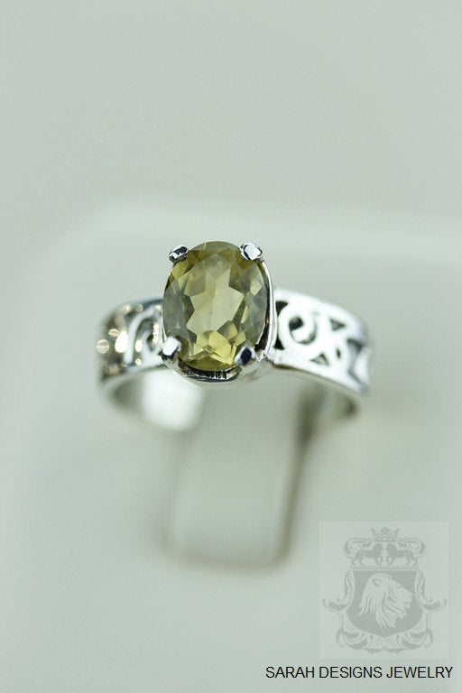 Size 6.5 CITRINE VINTAGE FILIGREE (Nickel Free) 925 Fine S0LID Sterling Silver Ring & Worldwide Express Shipping r949