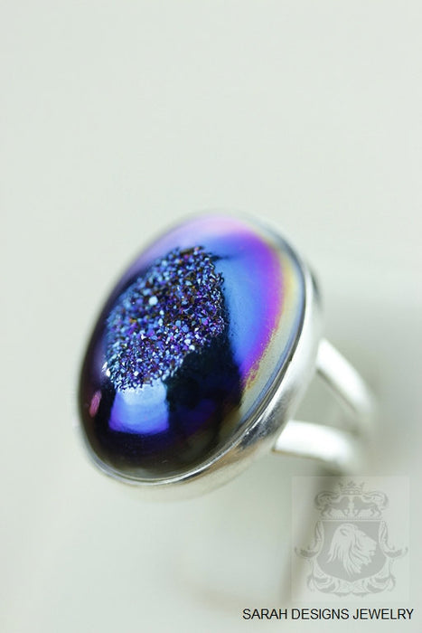 Size 5.5 Drusy Sterling Silver Ring r1134
