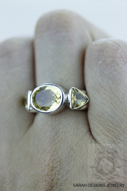 Size 6 Citrine Sterling Silver Ring R1180