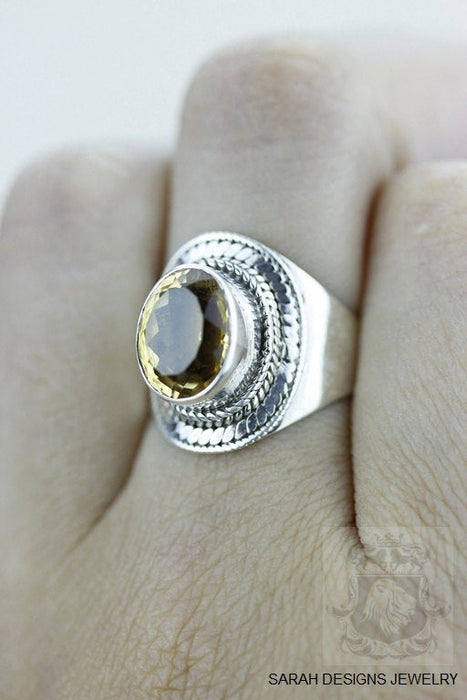 Size 6.5 Citrine Sterling Silver Ring r1287