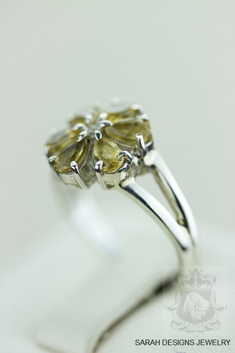 Size 5.5 Citrine Sterling Silver Ring r1337