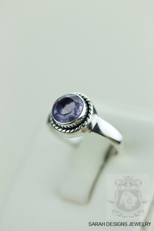 Size 7 Amethyst Sterling Silver Ring r1339
