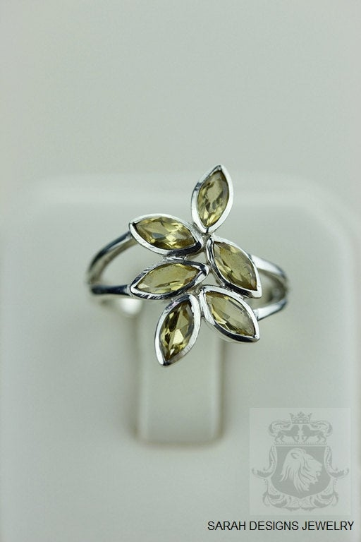 Size 6.5 MARQUISE CITRINE LAYERED (Nickel Free) 925 Fine S0LID Sterling Silver Ring & Worldwide Express Shipping r1328