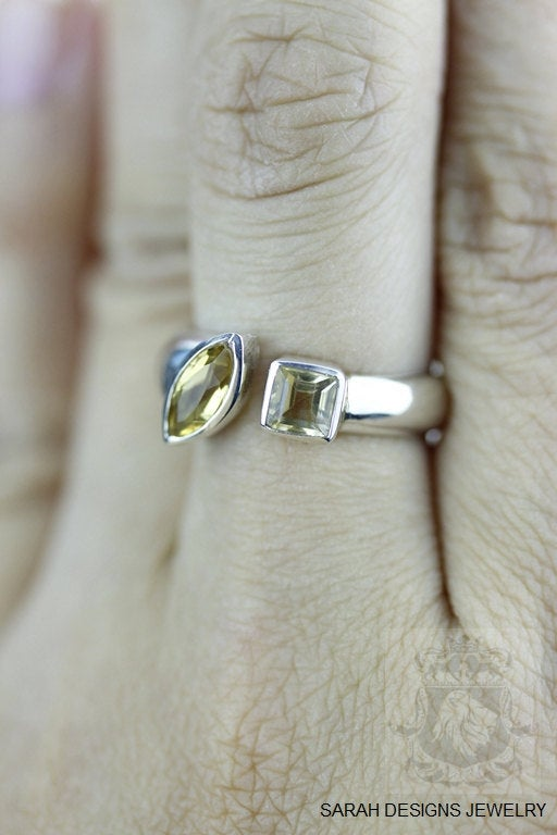 Size 6.5 Citrine Sterling Silver Ring r1329