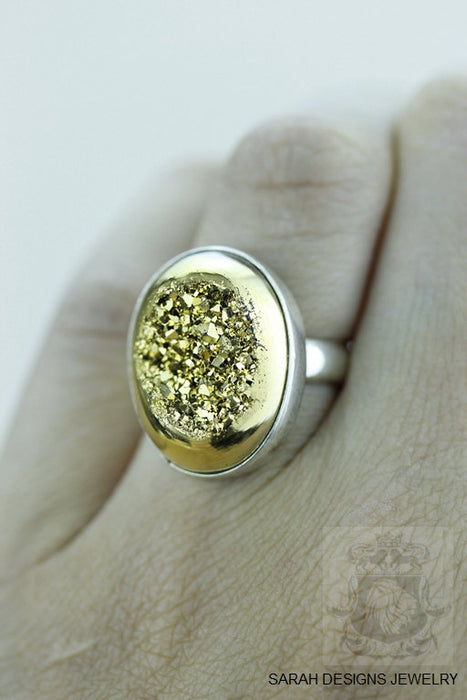 Size 5.5 Drusy Sterling Silver Ring r1359