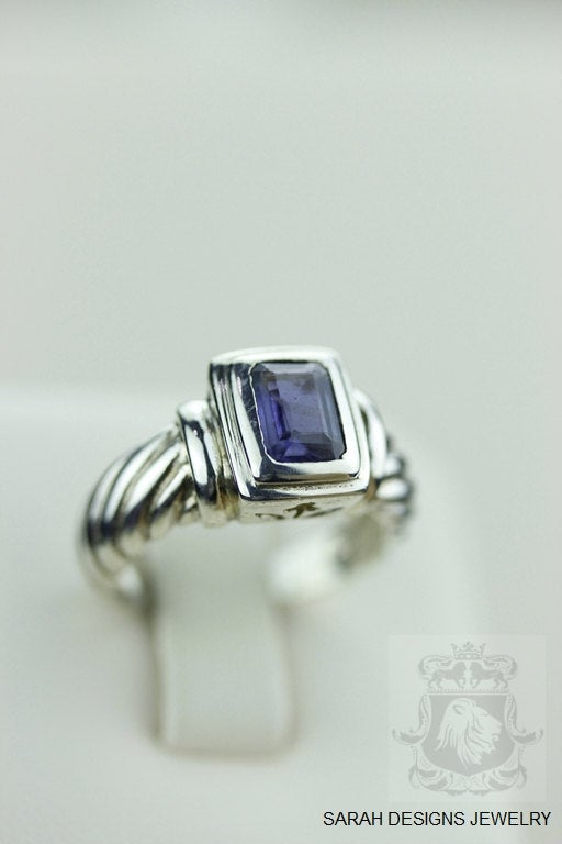 Size 5.5 IOLITE COIL SETTING (Nickel Free) 925 Fine S0LID Sterling Silver Ring & Worldwide Express Shipping r1207