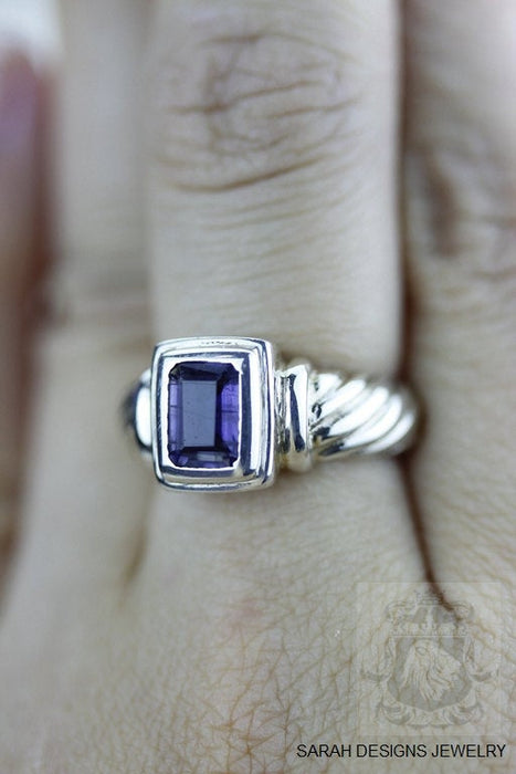Size 5.5 Iolite Sterling Silver Ring r1207