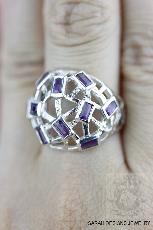 Size 7 Amethyst Sterling Silver Ring r1381