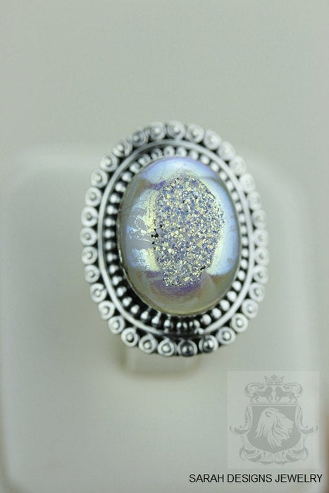 Size 6 Drusy Sterling Silver Ring r1446