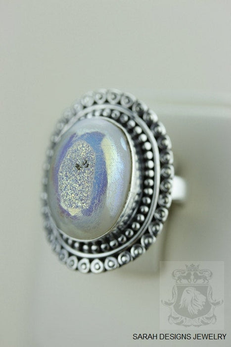 Size 6 Drusy Sterling Silver Ring r1421