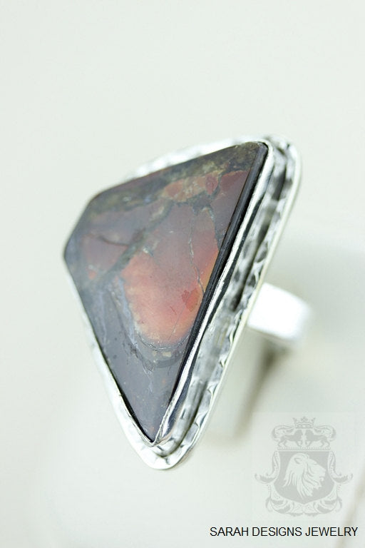 Size 8 Ammolite Sterling Silver Ring r1564