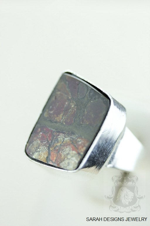 Size 7 Ammolite Sterling Silver Ring r1624