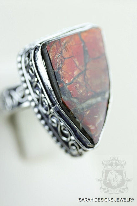 Size 10 Ammolite Sterling Silver Ring r1659