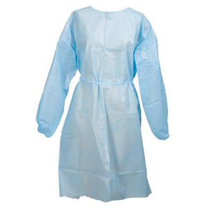 Isolation Gown Blue, Regular Size, Gown Length-110 cm - Osung USA