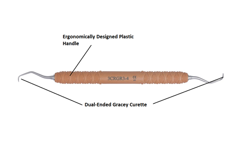 Dental Curette, Gracey, Rigid, GR 3-4 [3CRGR3-4] - Osung USA