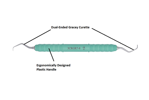 Dental Curette, Gracey, Rigid, GR 7-8 [3CRGR7-8] - Osung USA