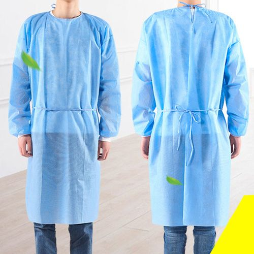 Disposable Tie-Back Protective Isolation Gown, ONE Size 50 pcs/BOX - Osung USA