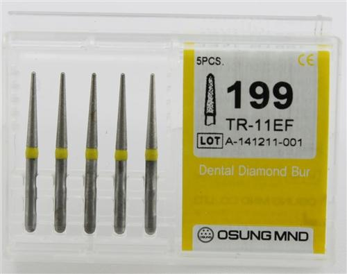 Diamond Burs, Taper Round Shape, Extra Fine Grit Multi-Use 199Tr-11Ef - Osung USA