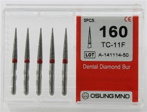 Diamond Burs, Taper Conical Shape, Fine Grit Multi-Use 160Tc-11F - Osung USA