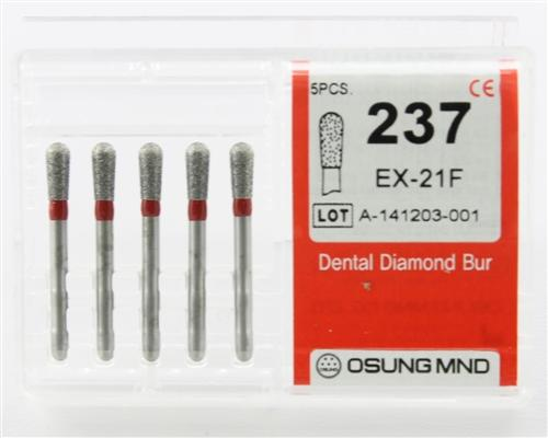 Diamond Burs, Pear Shape, Fine Grit Multi-Use 237Ex-21F - Osung USA