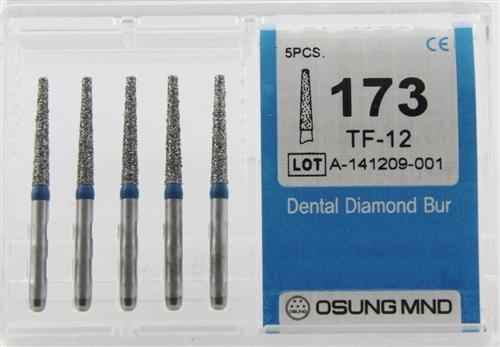 Diamond Burs, Taper Flat Shape, Standard Grit Multi-Use 173Tf-12 - Osung USA