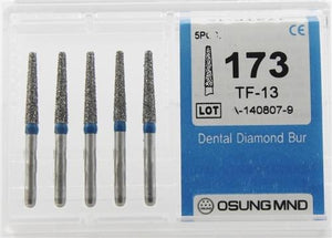 Diamond Burs, Taper Flat Shape, Standard Grit Multi-Use 173Tf-13 - Osung USA