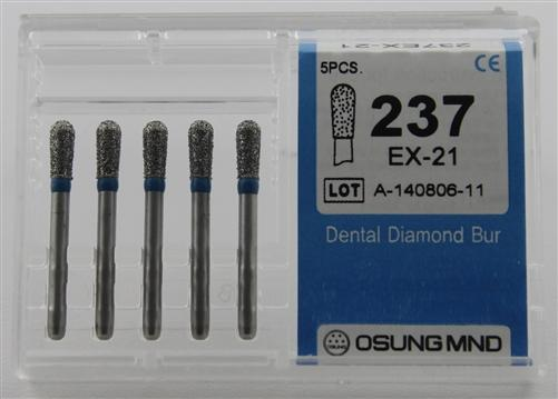 Diamond Burs, Pear Shape, Standard Grit Multi-Use 237Ex-21 - Osung USA