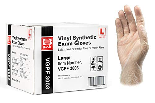 Vinyl Synthetic Exam Disposable Gloves, Large, 10 Boxes/Case - Osung USA