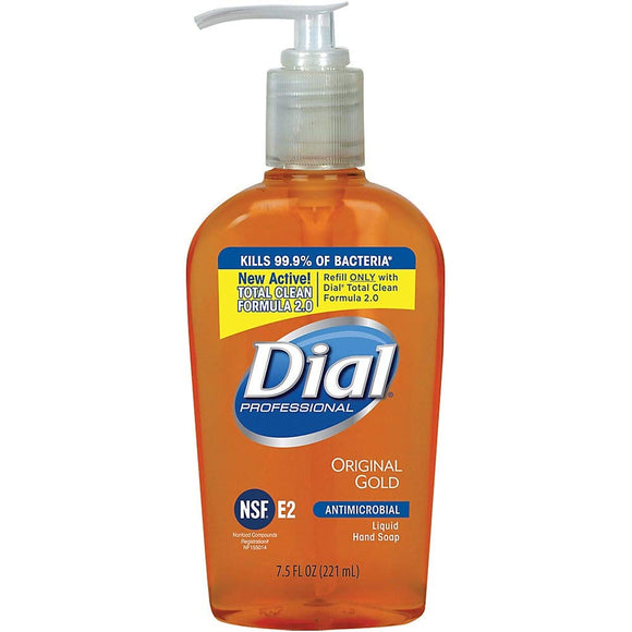 Dial Liquid Antimicrobial Hand Soap, Unscented, 7.5 Oz Bottle - 12 Bottles/Case - Osung USA
