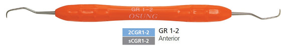 Dental Curette, Gracey, Standard, Autoclavable Silicone Handle, 2CGR1-2 - Osung USA
