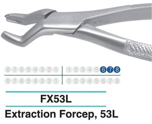 Dental Extraction Forcep UPPER MOLARS, FX53L - Osung USA