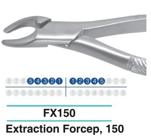 Dental Extraction Forcep UPPER TERIORS PREMOLARS, FX150 - Osung USA