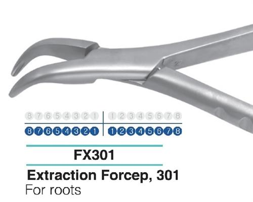Dental Extraction Forcep LOWER ROOTS, FX301 - Osung USA