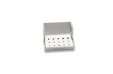 Dental Bur Holder Block, Silver, EBB1 - Osung USA