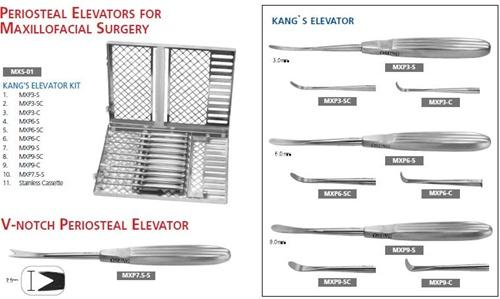 Periosteal Elevator Kit for Maxillofacial Surgery, MXS1 - Osung USA