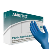 Ambitex Blue Nitrile N400 Powder Free Exam Glove - Large 100/Box (NLG400) - Osung USA