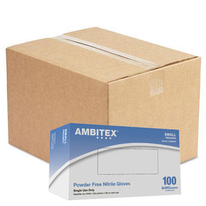 Ambitex N5201 Series Powder Free Blue Nitrile Gloves, Large, 1000/Case (NLG5201) - Osung USA