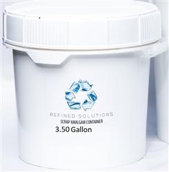 Scrap Amalgam 3.5 Gallon Recycle Bucket Medical Dental Waste Disposal - Osung USA