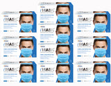PACDENT PREMIUM EAR-LOOP FACE MASKS ACTM LEVEL 2, 50/BOX - 10 BOX/CASE - Osung USA