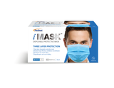 PACDENT PREMIUM EAR-LOOP FACE MASKS ACTM LEVEL 2, 50/BOX - 1 BOX - Osung USA