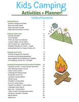 72 Page Kids Camping Planner and Activity {Printable} Book