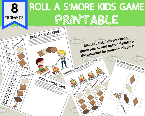 Roll a S'more Camping Game for Kids