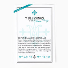 Load image into Gallery viewer, Seven Blessings for a New Day Bracelet