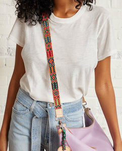 MELON LEATHER CROSSBODY STRAP